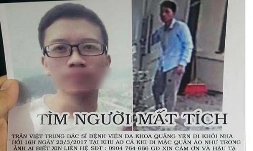 Bac si mat tich o Quang Ninh tro ve khong tinh tao