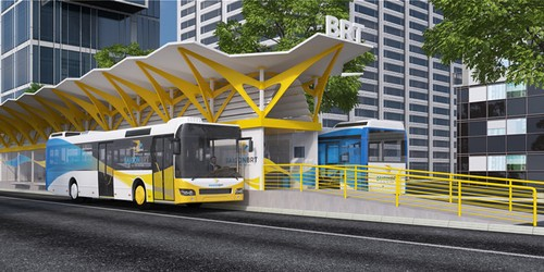 Dung trien khai tuyen buyt nhanh BRT so 1 o TP HCM