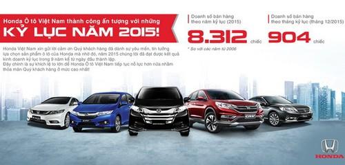 Honda Viet Nam ban duoc hon 8.300 xe oto trong nam 2015