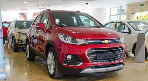 "Chevrolet Trax ""e tham"" voi 15 xe ban ra trong 4/2017"