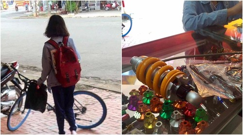 "Co gai mua phuoc moto tang nguoi yeu khien dan mang ""phat hon"""