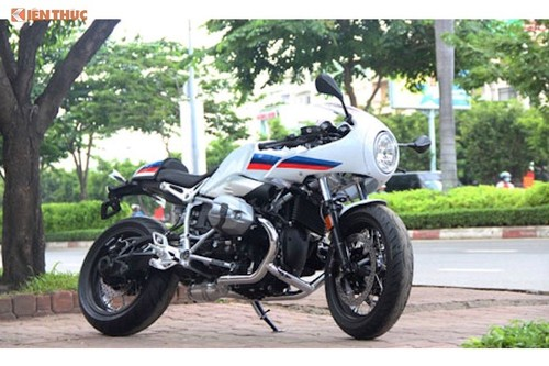 "Xe moto BMW R-Nite-T ""dinh loi"" trieu hoi tai Viet Nam"