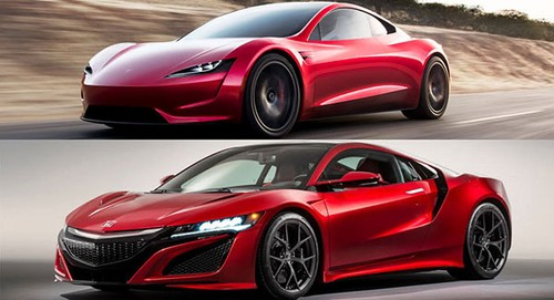 Sieu xe oto dien Tesla Roadster copy thiet ke cua Honda?-Hinh-2