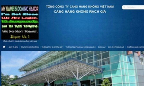 Hacker tan cong hang loat website san bay la nguoi Viet?