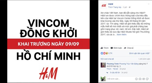 Hot: H&M khai truong cua hang dau tien tai Sai Gon ngay 9/9