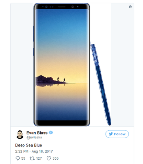 Samsung Galaxy Note 8 se co mau moi tuyet dep