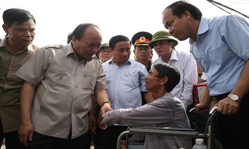 Thu tuong den Ha Tinh: Khong de canh tieu dieu noi bao di qua