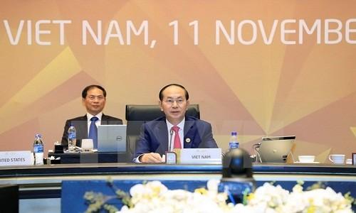 Chu tich nuoc Tran Dai Quang: APEC 2017 vua ket thuc tot dep