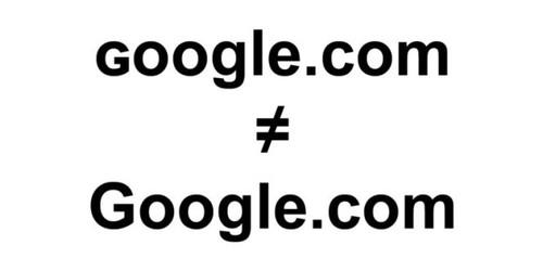 Luu y: ɢoogle.com khong phai la Google.com