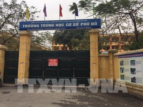 Ha Noi: Giang chuc Hieu truong Truong Trung hoc co so Phu Do