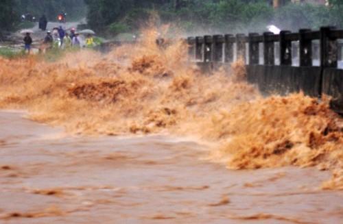 Quang Ngai: Lu lon cuon 4 nguoi xuong suoi, mot nguoi mat tich