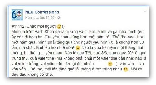 """Co gai doi nguoi yeu tang qua 50 lan mot nam la """"dao mo""""?"""