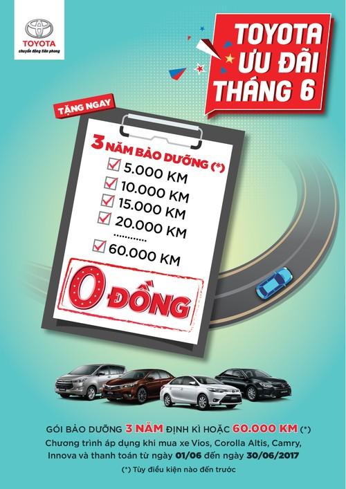 "Toyota Viet Nam khuyen mai ""khung"" cac dong xe trong thang 6/2017"