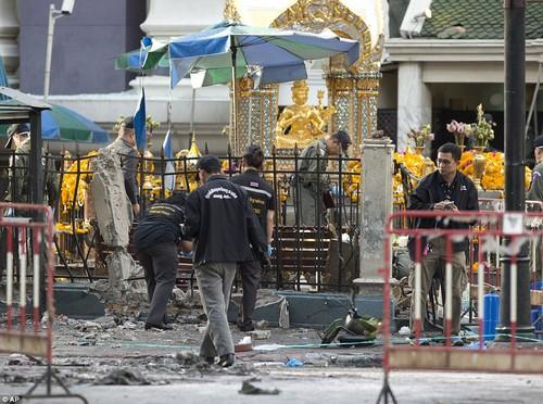 Canh sat dieu tra nu nghi pham vu no bom o Bangkok