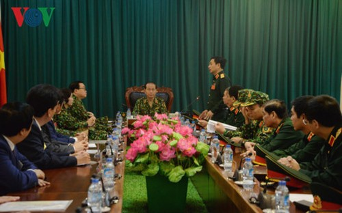 Chu tich nuoc Tran Dai Quang tham, lam viec voi Bo Quoc phong-Hinh-2