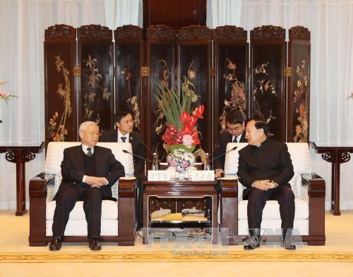Tong Bi thu Nguyen Phu Trong tiep Bi thu Tinh uy Chiet Giang