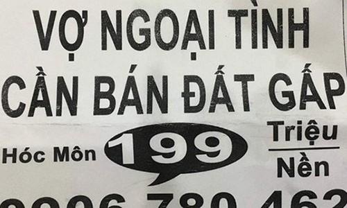 """""""Vo ngoai tinh ban nha gap"""": Chieu ban hang qua lo"""