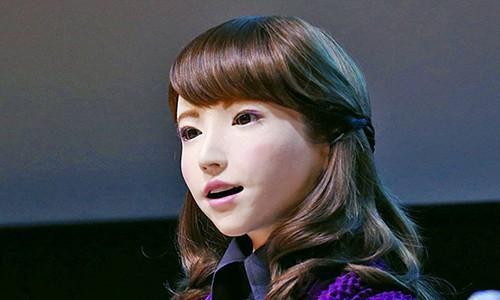 Co robot xinh dep Nhat Ban giao tiep nhu nguoi