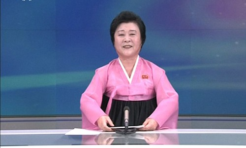 "Nu MC Trieu Tien chuyen doc tin khien My-Han ""run ray"""