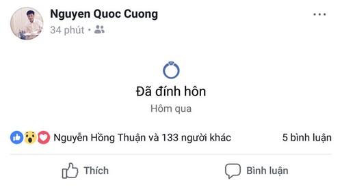 """Hanh dong """"la"""" cua Dam Thu Trang truoc khi """"dinh hon"""" Cuong Do la?"""