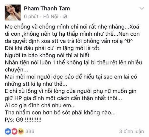 Me chong noi gi ma Tam Tit lap tuc xoa ngay status mia mai Maya?-Hinh-2