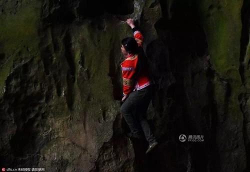 Nu nguoi nhen, leo vach da 100m de kiem song-Hinh-2