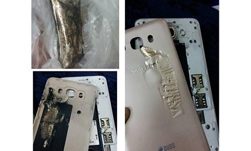 Samsung Galaxy J7 phat hoa tren may bay