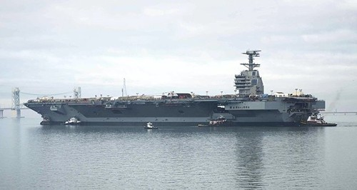 Tau san bay USS George H.W. Bush tro lai Trung Dong