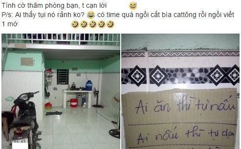 """Bang noi quy phong tro """"ba dao"""" cua 3 nam sinh Binh Duong"""