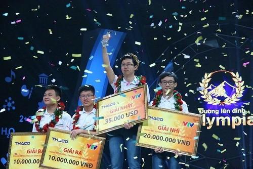 Nhung ky luc cua nha vo dich Duong len dinh Olympia 2017