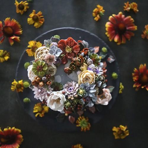 Nhung chiec banh hoa kem bo dep nhuong nay ban co no an khong?