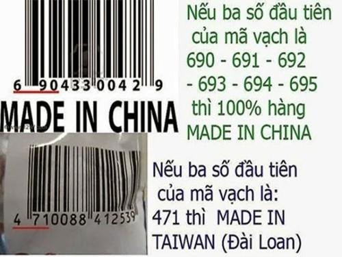 Tuyet chieu nhan dien thuc pham san xuat tai Trung Quoc hay Viet Nam
