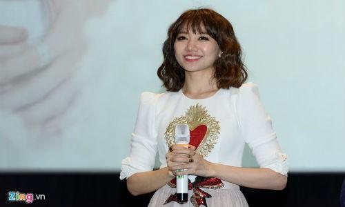 Hari Won tiet lo Tran Thanh lay cat-xe cao khi dong phim cua vo
