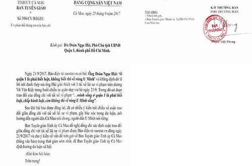 "Ca Mau yeu cau ong Hai phan hoi phat ngon ""ve rung U Minh song"""