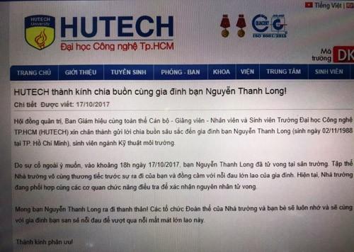 Dai hoc HUTECH xac nhan nam sinh vien chet do su co-Hinh-3