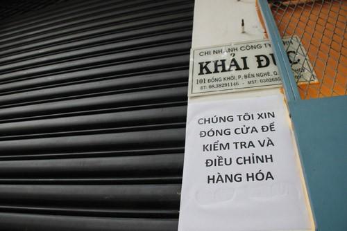 7 cua hang, gian hang khan lua Khaisilk o TP.HCM ngung hoat dong-Hinh-2