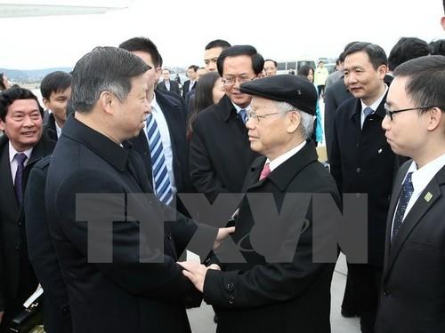 Tong Bi thu Nguyen Phu Trong ket thuc chuyen tham Trung Quoc