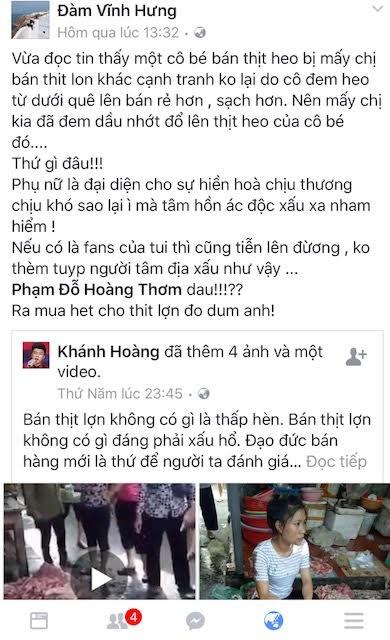 Chi Xuyen phu nhan viec Dam Vinh Hung mua thit lon bi hat luyn