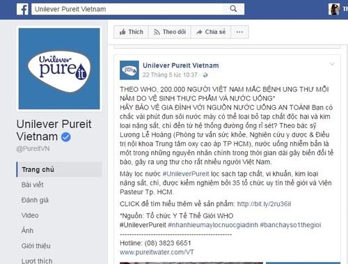 May loc nuoc Unilever Pureit Vietnam quang cao lo... gay hoang mang NTD Viet?-Hinh-2