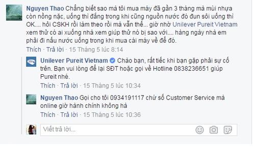 May loc nuoc Unilever Pureit Vietnam co tot nhu quang cao?