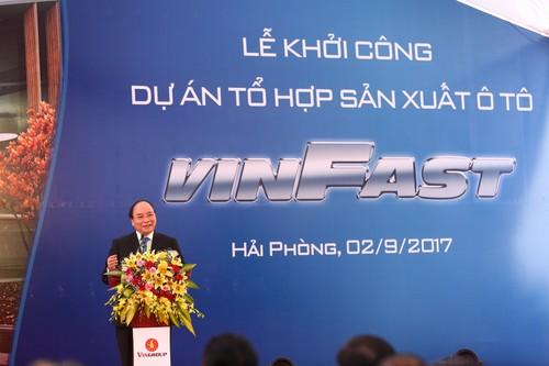 Vingroup cong bo xay nha may san xuat o to, xe may o Hai Phong