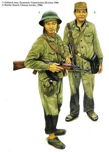 Các chiến sĩ phục vụ tại biên giới phía Bắc những năm 1980.