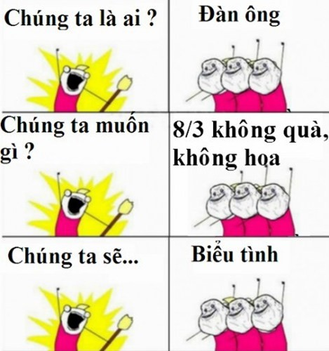 """Anh che """"kinh dien"""" ve ngay 8/3"""