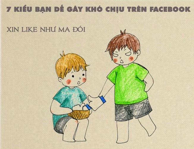 7 kieu ban gay kho chiu tren mang xa hoi Facebook