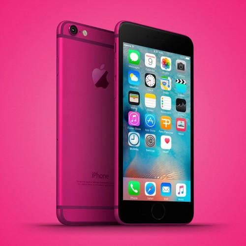 Anh dung dien thoai iPhone 6C nhieu mau sac, dang giong 6S-Hinh-5