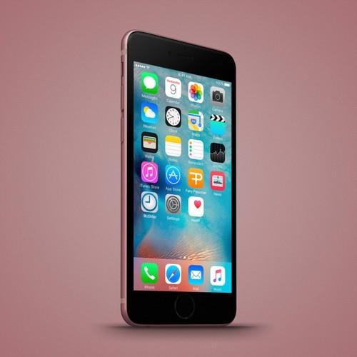 Anh dung dien thoai iPhone 6C nhieu mau sac, dang giong 6S-Hinh-7