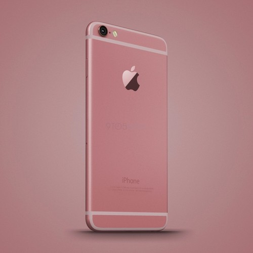 Anh dung dien thoai iPhone 6C nhieu mau sac, dang giong 6S-Hinh-8