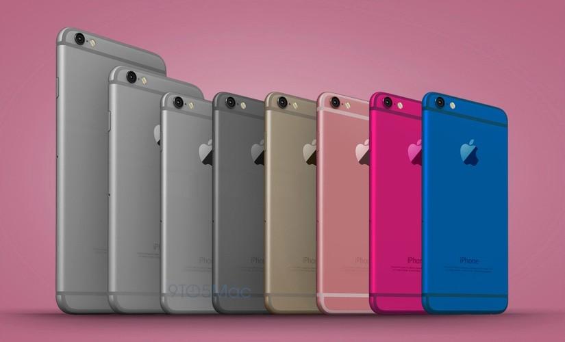 Anh dung dien thoai iPhone 6C nhieu mau sac, dang giong 6S