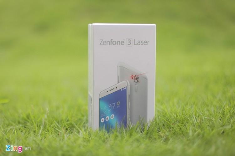 Soi dien thoai Asus Zenfone 3 Laser vua len ke tai Viet Nam