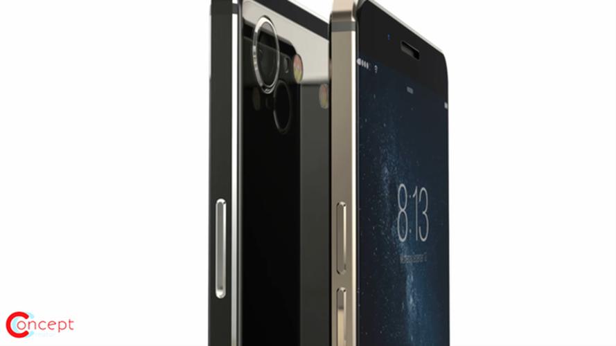 Y tuong iPhone 8 thiet ke khong vien, than boc kim loai-Hinh-4